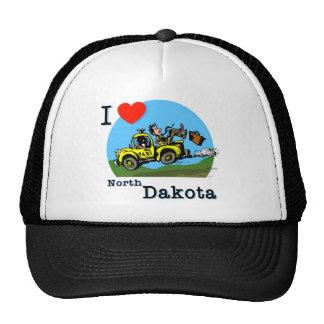 I Love North Dakota Country Taxi Trucker Hat