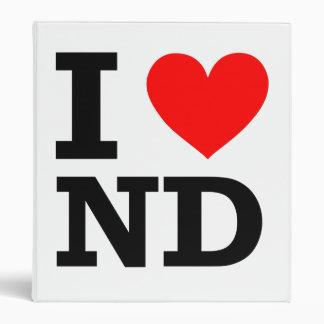 I Love North Dakota Design Binder