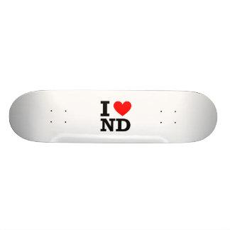I Love North Dakota Design Skate Decks
