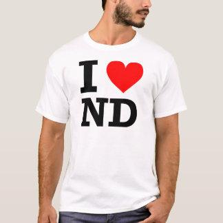 I Love North Dakota Design T-Shirt