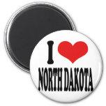 I Love North Dakota Fridge Magnets