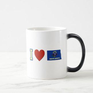I Love North Dakota Magic Mug