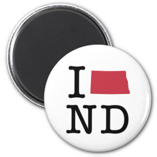 I Love North Dakota Magnet
