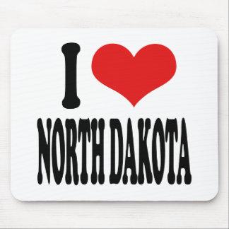 I Love North Dakota Mouse Pad