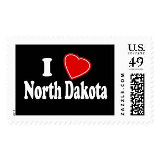 I Love North Dakota Postage