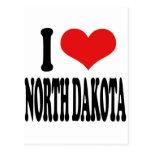I Love North Dakota Postcard