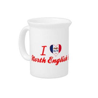 I Love North English, Iowa Beverage Pitchers