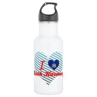I Love North Harmony, New York 18oz Water Bottle