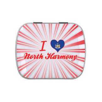 I Love North Harmony, New York Jelly Belly Candy Tins