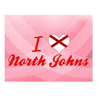 I Love North Johns, Alabama Post Card