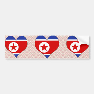 I Love North Korea Bumper Stickers