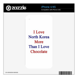 I Love North Korea More Than I Love Chocolate Skin For iPhone 4