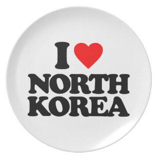 I LOVE NORTH KOREA PLATES