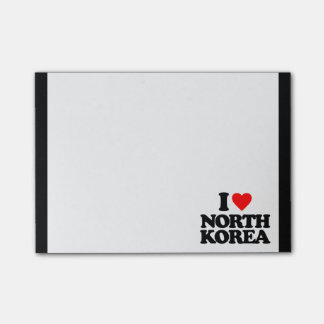 I LOVE NORTH KOREA POST-IT® NOTES