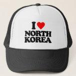 "I LOVE NORTH KOREA TRUCKER HAT<br><div class=""desc"">I LOVE NORTH KOREA</div>"
