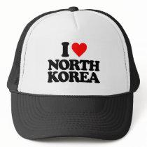 I LOVE NORTH KOREA TRUCKER HAT