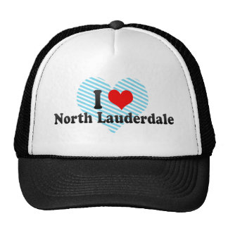 I Love North Lauderdale, United States Mesh Hats