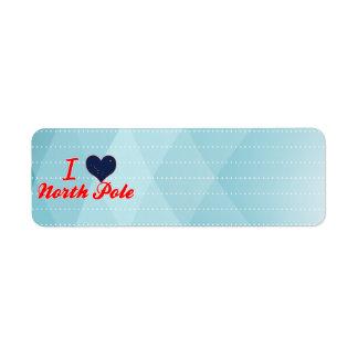 I Love North Pole, Alaska Label