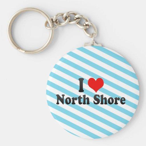 I Love North Shore, New Zealand Keychains