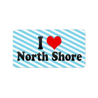 I Love North Shore, New Zealand Label