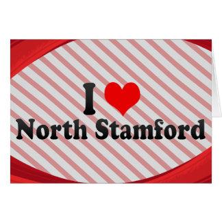 I Love North Stamford, United States Stationery Note Card