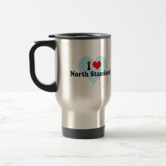 I Love North Stamford, United States Mugs