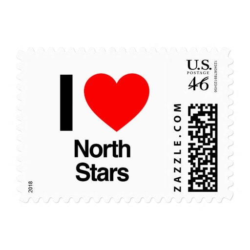 i love north stars stamp
