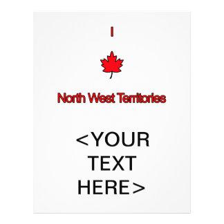 I Love North West Territories Custom Flyer