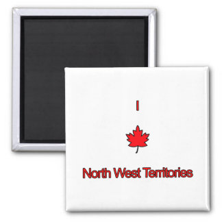 I Love North West Territories Refrigerator Magnets