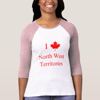 I Love North West Territories Tee Shirt