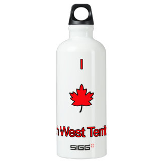 I Love North West Territories Water Bottle