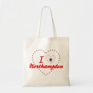 I Love Northampton, Massachusetts Canvas Bags