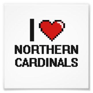 I love Northern Cardinals Digital Design Photo Print