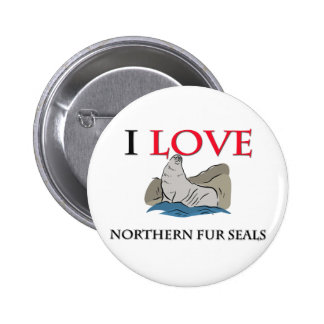 I Love Northern Fur Seals Button