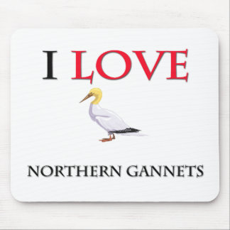 I Love Northern Gannets Mouse Mats