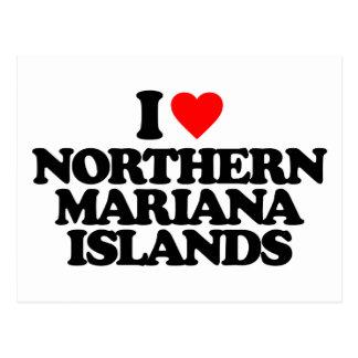 I LOVE NORTHERN MARIANA ISLANDS POSTCARD
