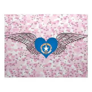 I Love Northern Mariana Islands -wings Postcard