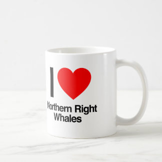 i love northern right whales coffee mug