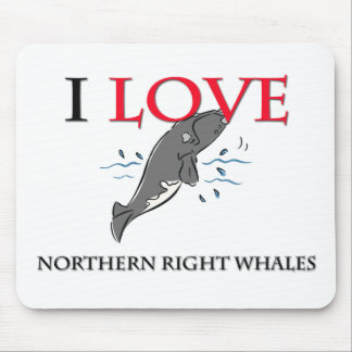I Love Northern Right Whales Mouse Pad