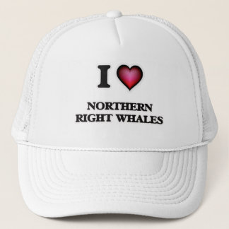 I Love Northern Right Whales Trucker Hat