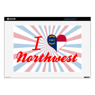 "I Love Northwest North Carolina 15"" Laptop Decals"