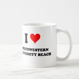 I Love Northwestern University Beach Illinois Coffee Mug