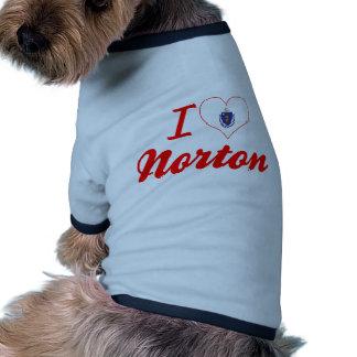 I Love Norton, Massachusetts Dog Tshirt