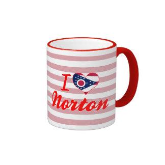 I Love Norton, Ohio Ringer Coffee Mug