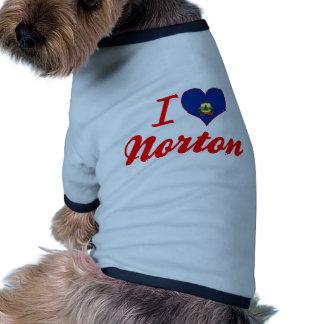 I Love Norton, Vermont Pet Tshirt