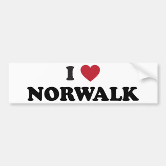 I Love Norwalkd California Bumper Sticker