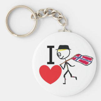 I Love Norway 2 Keychain