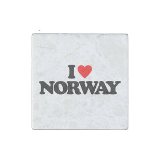 I LOVE NORWAY STONE MAGNET
