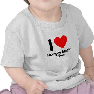 i love norway maple trees tshirt