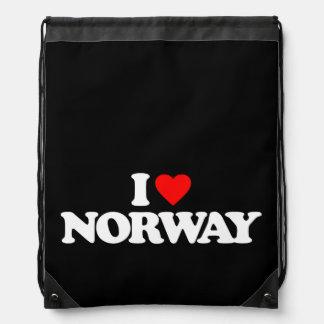 I LOVE NORWAY CINCH BAG